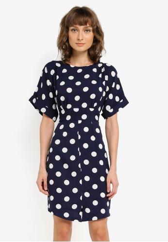CLOSET navy Kimono Wiggle Dress CL919AA0SNXBMY_1