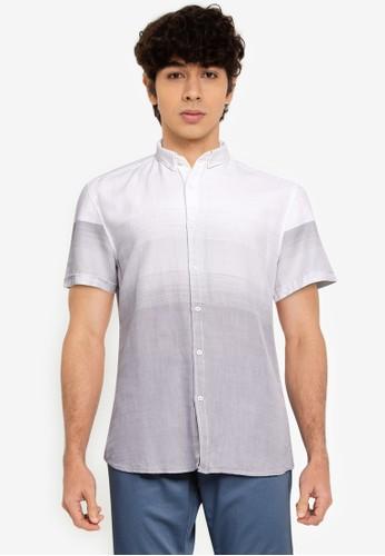 LC Waikiki grey Slim Fit Short Sleeve Poplin Shirt C51E9AAE415E43GS_1
