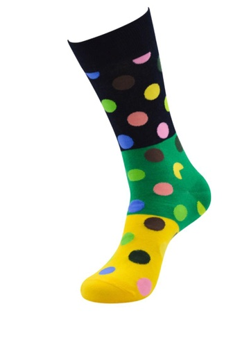 Kings Collection black Dot Pattern Cozy Socks (One Size) HS202368 6CF15AAD2A568BGS_1