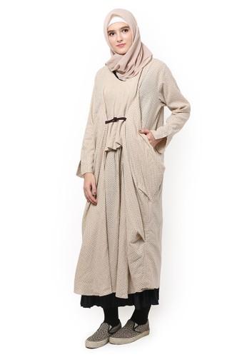 eugeneffectes brown Kimono Dress Polka BBD7BAA3C5931DGS_1