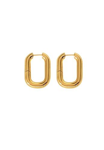 CELOVIS gold CELOVIS - Opera Rectangular Chunky Hoop Earrings in Gold 04E1DACE996B05GS_1