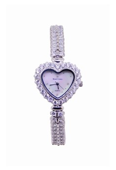 Japan Design Silver Plating Lady Fashion Bracelet Crystal Watch