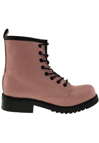 Maxstar Maxstar Women's 303 Lace Up Mid Calf PU Combat Boots US Women Size MA168SH54BKVHK_1