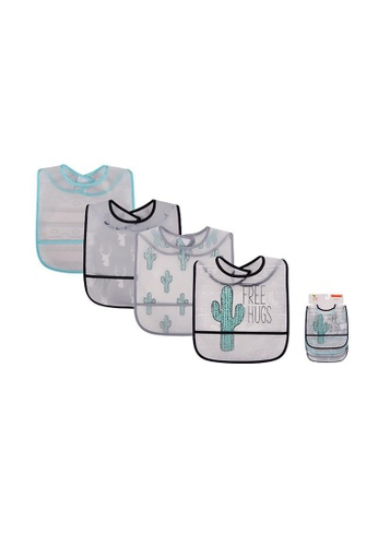 Little Kooma white and blue Yoga Sprout Baby Peva Waterproof Bib 4pcs 93025 - 0528 5A1FFKCE802CC1GS_1