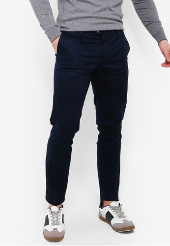 Mango Man blue and navy Slim-Fit Chinos Trousers 555BFAA3E4ACB9GS_1