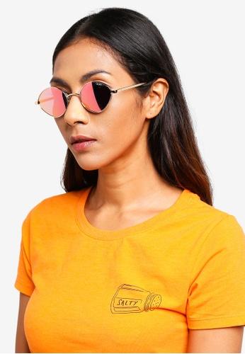 Quay Australia gold Wild Night Sunglasses 3BDA7GL4BC9E42GS_1