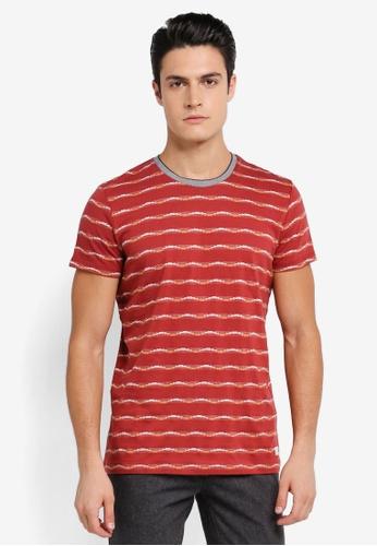ESPRIT 紅色 Short Sleeve T-Shirt ES374AA0SPJAMY_1
