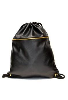 Hanz Big Plain Black Gold Accessories Drawstring Bag