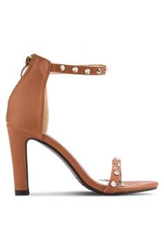 harga Studded Open Toe Heels Zalora.co.id