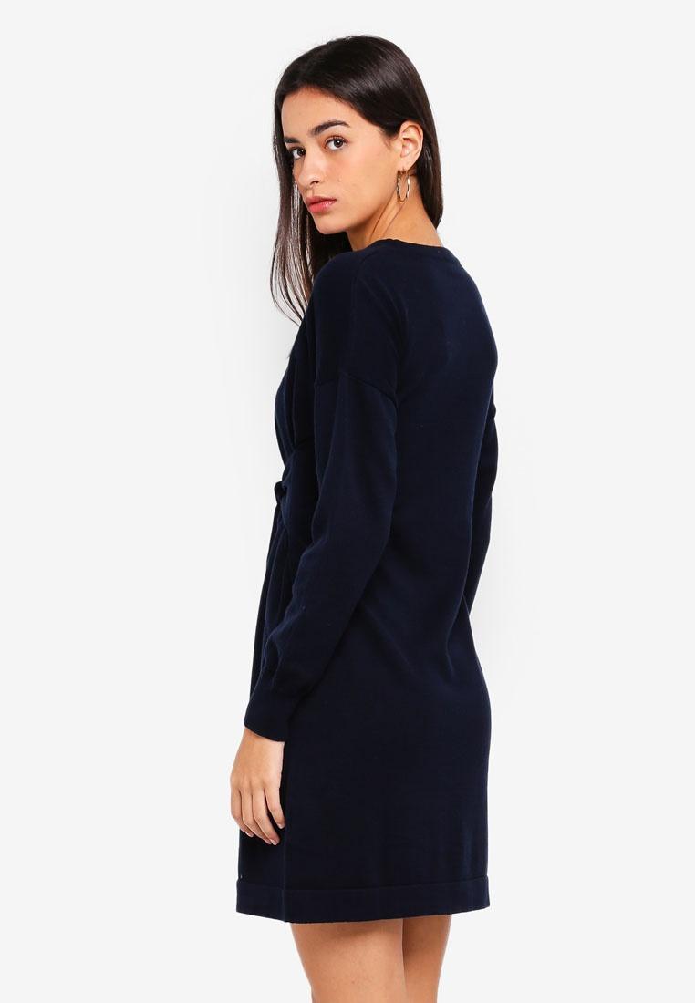 Sweatshirt Waist ZALORA With Dress Navy Tie wvY1rvqx