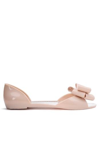 Halo beige Summer Bow Waterproof Flat Sandals 2F098SH9DC03C2GS_1