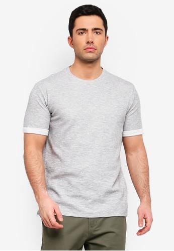 MANGO Man grey Flecked Cotton-Blend T-Shirt E96D2AA6B6B13EGS_1