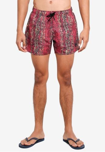 Topman multi Snakeskin Pattern Swim Shorts 61924US8DBCB7CGS_1