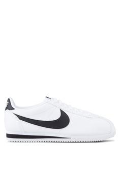 sale retailer 32556 b1857 Nike white Nike Classic Cortez Leather Shoes 136D3SH02C79DFGS 1