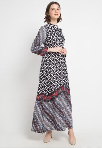 Brahmani Batik black and white Long Dress Gamis Pagar Monochrome 3B0D5AA332F36BGS_1