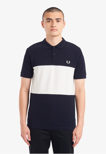 FRED PERRY navy M9613 - Colour Block Polo Shirt - (Navy) BCC25AA4D55D3CGS_1