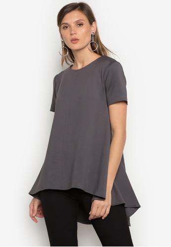 Ensembles grey Short Sleeve Blouse EN320AA0JYELPH_1