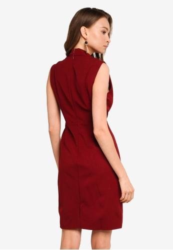 REUX red Adriana Dress 02B16AA0AD9A39GS_1