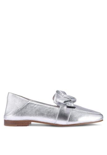 ALDO 銀色 蝴蝶結樂福鞋 1425ESH0ED680EGS_1