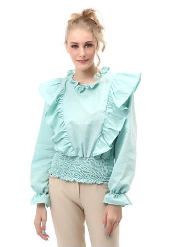 Hamlin n/a Blouse Wanita Kasual Lengan Karet Fashionable Material Cotton ORIGINAL 2A2D8AA4CCF193GS_1