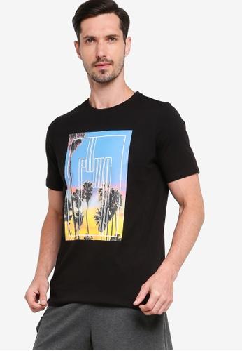 Puma black Graphic Photo Print Men's Tee 5CAE2AA2F6633CGS_1