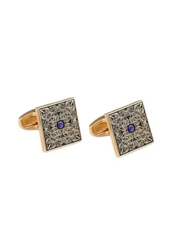 Kings Collection Blue Diamond Cufflinks For Men (KC10055) 62C6CAC01022E2GS_1