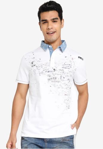 Desigual white Doodle Printed Polo Shirt 37321AAAA6F0B2GS_1