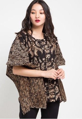 Vestiti black and multi and brown Pertiwi Sogan Batwing 6C47DAAE89CAADGS_1