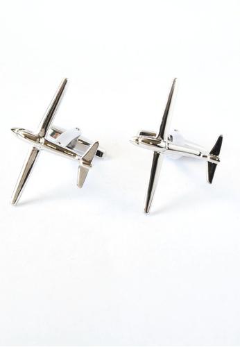Splice Cufflinks Rhodium Plated Glider Cufflinks SP744AC11DPSSG_1