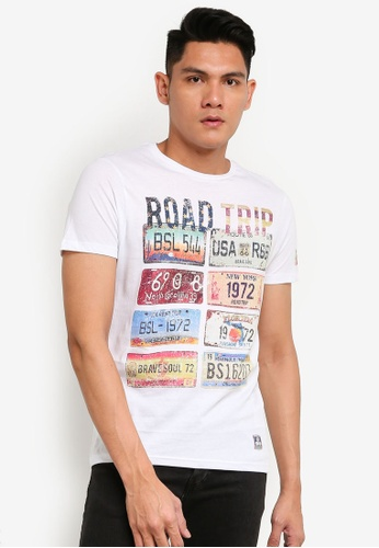 Brave Soul white Short Sleeves Road Trip T-Shirt 90DD6AAFC59343GS_1