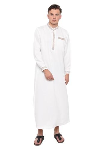 Java Seven Muslimwear white JAVA SEVEN GAMIS PRIA [MMT 854] - PUTIH TULANG DE39AAAACD5ECDGS_1