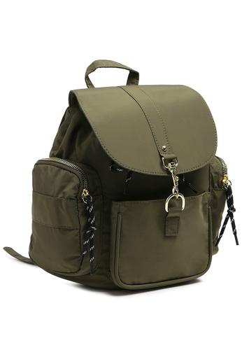 London Rag green Khaki On the Move Backpack CFD0DAC0704DEDGS_1