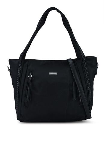NUVEAU black Premium Oxford Nylon Tote Bag Set of 2 2557BACD720391GS_1