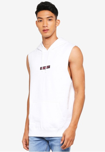 Cotton On white Sleeveless Hoodie CA484AADC0D29AGS_1