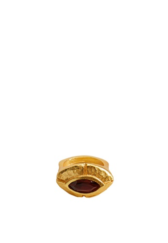 Mango gold Crystal Ring 1D734AC81EE983GS_1