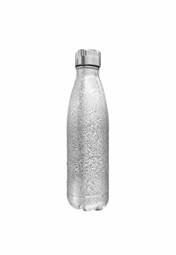 Slique silver Premium Stainless Steel Glitter Finish Insulated Water Bottle 500ml CD858HL90E03C1GS_1