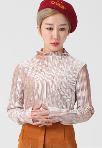 韓流時尚 高領絲絨現代頂部 F4112esprit 高雄, 服飾, 襯衫