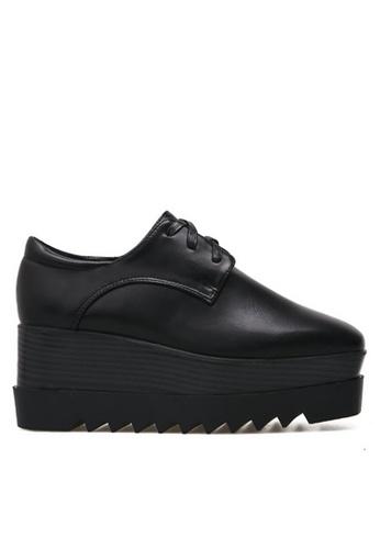 Twenty Eight Shoes black Wood Platform  Derbies 6198-1 TW446SH2V3C6HK_1
