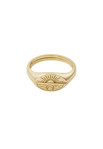Wanderlust + Co gold Sun & Moon Gold Ring Set 273AEAC5ECD756GS_1