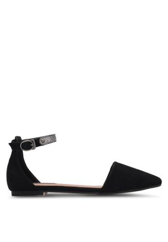 ZALORA 黑色 Ankle Strap Ballet Flats E7A34SH19D5E6AGS_1