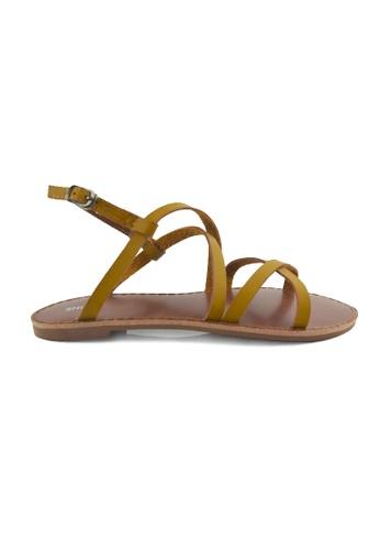 SHINE beige Flats Sandals SH554SH21YRYSG_1