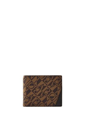 BONIA black Black Terasso Monogram Money Clip Wallet 995DBAC0C44DB7GS_1
