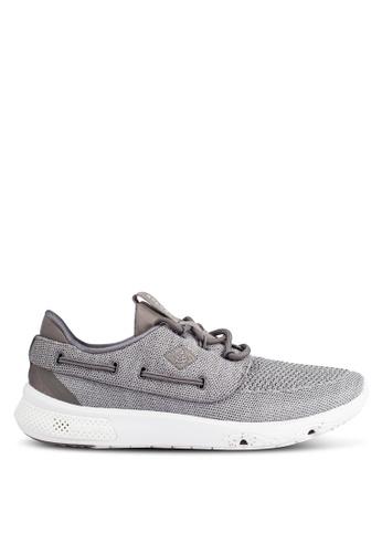Sperry grey 7 Seas 3-Eye Knit Sneakers SP132SH0RU4NMY_1