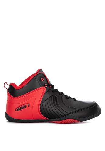 And1 black Tsunami Basketball Shoes B1E06SH64DF5D7GS_1