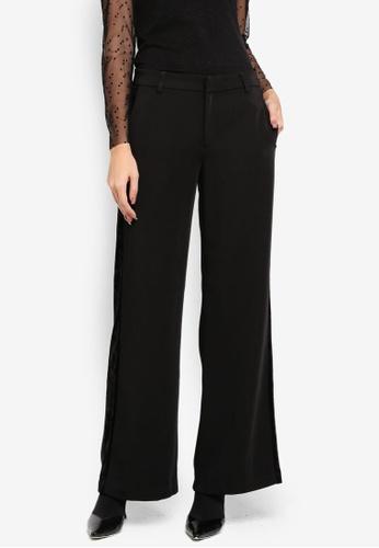 ONLY black Tessa Velvet Stripe Pant 63000AA4FBFFCAGS_1