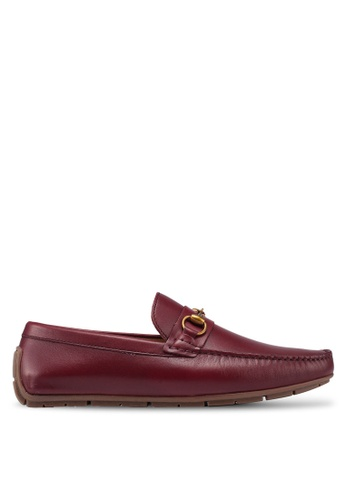 Carlton London red Chain Detail Loafers 134A8SH8008805GS_1