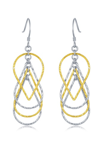 MBLife yellow 925 Sterling Silver Plated Yellow Teardrop Hook Earrings 1DA70AC64F1547GS_1