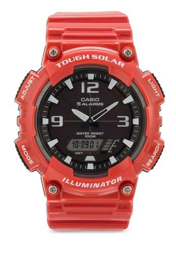 Casio red Casio Men's AQ-S810WC-4AVDF Analog-Digital Display Quartz Red Watch CA843AC85XZEMY_1