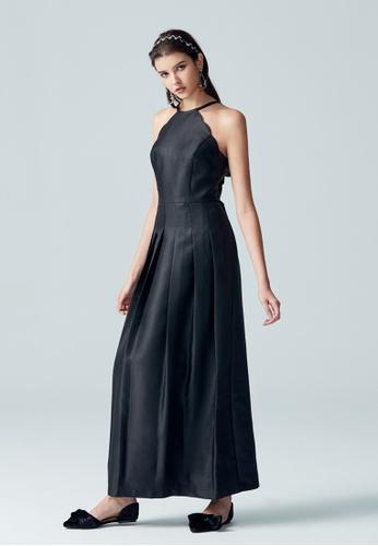 iROO black Halter Neck Dress 9B7EEAA6BFEA11GS_1