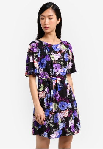 Mango black Bow Floral Dress MA193AA0RXT1MY_1